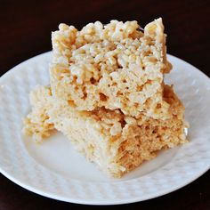 Dairy Free for Baby: Rice Krispie Treats use gluten free rice krispies.