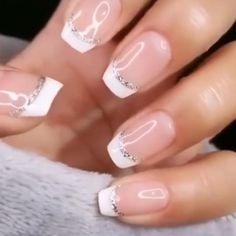 Cute Nails, Pretty Nails, My Nails, Elegant Nails, Stylish Nails, Nagellack Design, Nail Polish, French Tip Nails, French Nail Art