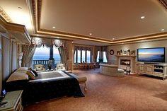17 Stunning Master Bedroom Design Ideas – Modern Home Dream Master Bedroom, Master Bedroom Design, Bedroom Designs, Master Suite, Master Bath, Huge Bedrooms, Luxurious Bedrooms, Large Bedroom, Master Bedrooms