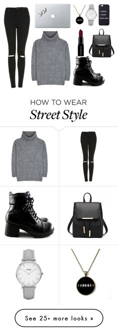 """""""//street style//"""" by trebleclefcat82 on Polyvore featuring Yves Saint Laurent, Topshop, Smashbox and Vinyl Revolution"""