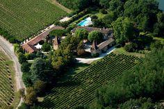 Le château Touny les Roses et ses vignes