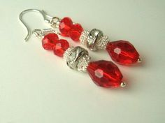 Christmas Jewelry Christmas Earrings by GreenidladeeJewelry, $18.00
