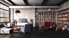 modern and industial lofts interior http://vintageindustrialstyle.com/industrial-design-inspiring-lofts-industrial-style-decor/