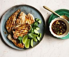 Pounded chicken with jaew recipe - For jaew, dry-roast chillies in a wok over low heat until toasted and smoky (3-4 minutes). Process in a blender until finely ground (30-40 seconds), then transfer to a bowl and combine with lime juice, fish sauce and sugar.