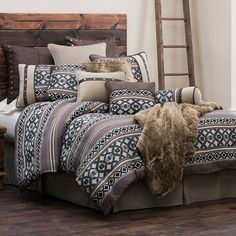 HiEnd Accents Tucson Southwestern Bedding Comforter Set and Accessories #DelectablyYours Western Southwestern Bed & Bath Decor