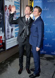 """Neil Patrick Harris and David Burtka attend the Broadway Opening night of """"The Audience"""" at the Gerald Schoenfeld Theatre on March 8, 2015"""