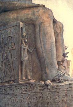 Below the Cataracts 1907 Nerfert Ari Luxor Temple Canvas Art - Walter Tyndale x Ancient Egyptian Art, Ancient Ruins, Ancient Artifacts, Ancient History, Egyptian Mythology, Luxor Temple, Luxor Egypt, Modern Egypt, Ancient Mysteries