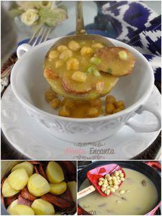 Sopa Creme de Grão de Bico, é a melhor SOPA DE GRÃO DE BICO DA VIDA! pode apostar. Além do grão de bico, leva batatas, bacon, paio e sofrito espanhol. Di vi na!