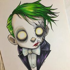 regram The work for is never done . piece while waiting for Game. Joker Cartoon, Joker Comic, Joker Art, Batman Art, Comic Art, Gotham Batman, Gotham Villains, Joker Drawings, Creepy Drawings