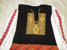 Yambol area Greek Traditional Dress, Dark Mountains, Folk Embroidery, Black Sea, Folk Costume, Bulgarian, My Heritage, Bell Sleeve Top, Greek Costumes