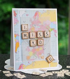 I Miss You by Virginis Lu using New Simon Says Stamp from the Color of fun release.