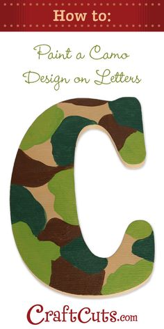 video on how to paint camo on wood letters.