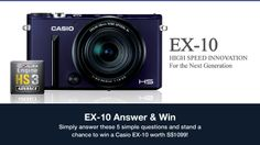 Simply answer 5 simple questions and you might just be the lucky winner to walk away with a Brand New Casio EXILIM EX-10 camera worth S$1099!