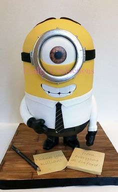20140902_083958 wm office Minion Stuart | by Crafty Confections