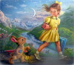 """From: """"Martine en voyage"""" (""""Martine On A Trip"""") by Marcel Marlier Marcel, Pokemon, Cute Illustration, Wordpress Theme, Cute Kids, Childhood Memories, Childrens Books, Art For Kids, Cute Pictures"""