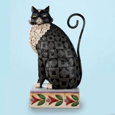 Jim Shore BLACK CAT Figurine Lucky