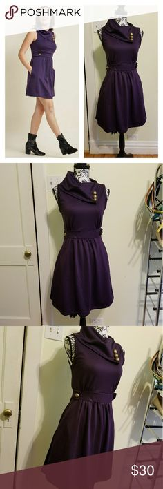 Modcloth Coach Tour Dress, Violet, M RE-POSH! It's gorgeous but doesn't work on my body.😭  The very popular Coach Tour Dress from Modcloth, size medium. The violet color is SO gorgeous and will turn heads. Foldover scarf neck, button details, banded waist, a-line shape, thick, sturdy, comfy material. This really is a fantastic dress. Excellent condition; previous owner said she hardly wore it, and I find no flaws or fading. Someone needs to love this!  Retails for $60+tax+shipping on the…
