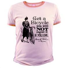 Twain Get A Bicycle Quote T-Shirt  Get A Bicycle  RetroRanger