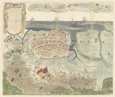 Het beleg van de stad Machilipatnam (Masulipatnam), anonymous, 1675 - 1725