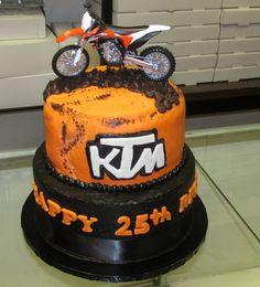 KTM Motorcycle cake  https://www.facebook.com/HoneyBsBoutiqueAndBakedGoods