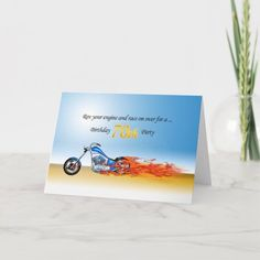 70th Birthday Flaming Motorcycle Party Invitation   biker helmet, bicycle quotes funny, car racing quotes #bikerquote #bikerlife #ktmindia, 4th of july party 70th Birthday, It's Your Birthday, Custom Invitations, Party Invitations, Motorcycle Party, Bicycle Quotes, Racing Quotes, Biker Quotes, Happy 40th
