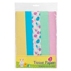 Wrap your gifts with tissue paper or simply put into a gift bag for added decoration. Perfect for easter with an assortment of pastel colours and egg patterns.