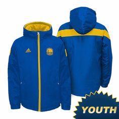 Golden State Warriors Youth adidas Shockwave Jacket - Royal/Gold