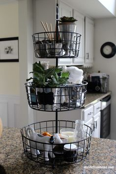 Kitchen Storage Ideas | 3-Tier Wire Rack | My Life From Home | http://www.mylifefromhome.com | 3- tier | kitchen baskets | kitchen storage | organized kitchen