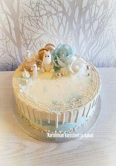 Muumi teemainen kakku 1vuotis juhliin, Moomin themed cake Moomin, Birthday Ideas, Birthday Cake, Decorated Cakes, Cute Cakes, Cake Cookies, Cake Ideas, Cake Decorating, Bb