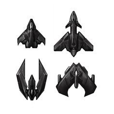 Top-down spaceships 2D sprites