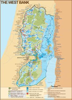 The West Bank Map (Israel-Palestina)