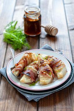 Gustosi #finocchi cotti al forno con pancetta caramellati al #miele #ricette #contorni #createtoinspire