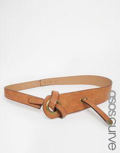 Imagen 1 de Cinturón con detalle de agujero con nudo retorcido de ASOS CURVE