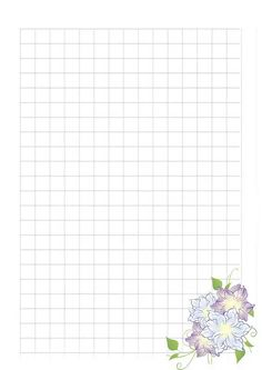 papier a lettre - flower graph style Printable Graph Paper, Printable Planner Pages, Templates Printable Free, Printables, Bee Art, Stationery Paper, Mandala Coloring, Pen And Paper, Writing Paper