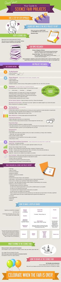 Science Fair Project Cheat Sheet Infographic
