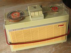 Vintage PHILIPS Portable Reel to Reel Tube Tape Recorder EL3514