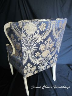 $350 · Antique Channel Back Chair, Newly Refinished and Re-upholstered