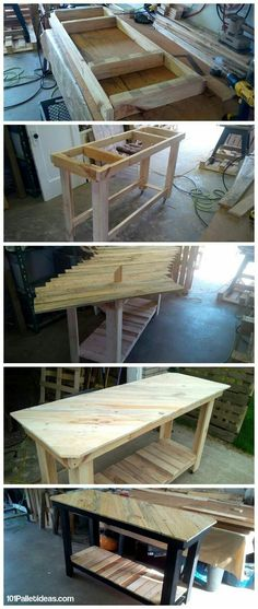 Wood pallet kitchen table pallet furniture kitchen island how to build Pallet Crafts, Diy Pallet Projects, Furniture Projects, Diy Furniture, Pallet Ideas, Pallet Bar, Pallet Furniture Kitchen Island, Pallet Creations, Wood Pallets