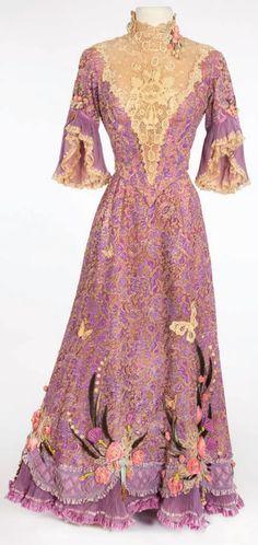 "Dress worn in the 1964 movie ""Unsinkable Molly Brown"" starring Debbie Reynolds."