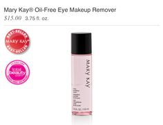 The best eye makeup remover ever! One of MK's bestsellers! http://m.marykay.com/mt/www.marykay.com/kimberlyruck/en-US/Best-Sellers/Mary-Kay-Oil-Free-Eye-Makeup-Remover/180101.partId?eCatId=4294967242&un_jtt_pdpLayout=true&un_jtt_redirect