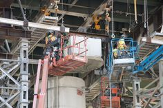 I-495 - Removing slice of hammerhead pier