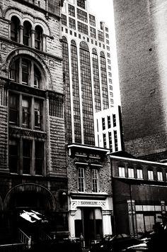 Old Milwaukee Street scene caught by the lens of Berenice Abbott.