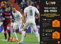 """No te pierdas """"El Clásico"""" #FCBarcelona - #RealMadridCF del 3 de diciembre, y contrata el #FÚTBOL en Orange."""