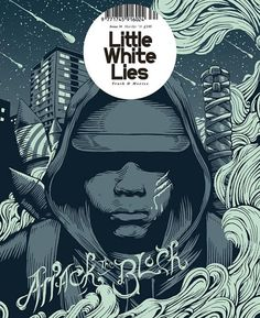 """Little White Lies: """"Attack The Block"""" Issue (2011) Design Director Paul Willoughby  #CoverDesign #LittleWhiteLies"""