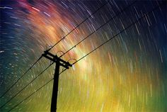 slow shutter speed - light painting with the universe