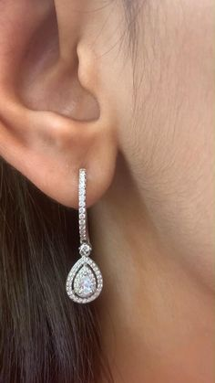 Real Diamond Earrings, 925 Silver Earrings, Sapphire Earrings, Silver Jewellery, Diamond Jewelry, Dangle Earrings, Ethnic Jewelry, Indian Jewelry, Ear Rings