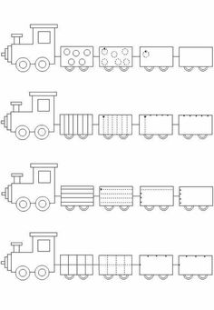 Crafts,Actvities and Worksheets for Preschool,Toddler and Kindergarten.Lots of worksheets and coloring pages. Train Crafts Preschool, Trains Preschool, Preschool Writing, Homeschool Kindergarten, Free Preschool, Kindergarten Worksheets, Kids Crafts, Transportation Worksheet, Pre Writing