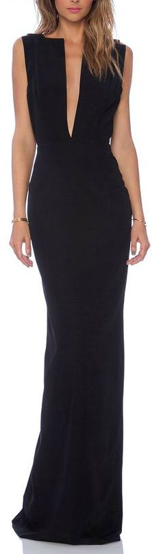 SELENE MAXI DRESS in BLACK