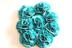 Bouquet ramo de flores de tela en verde esmeralda 606619349 algodondeluna@gmail.com