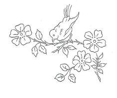 bird on flower branch